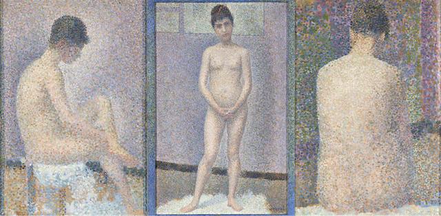 Georges Seurat, trois Poseuses