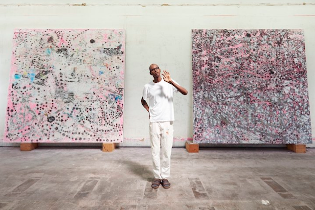 Mark Bradford in his studio © Jason Schmidt