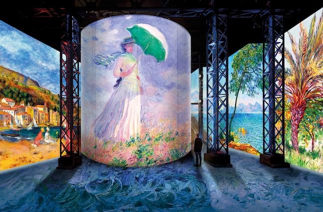 Monet, Renoir... Chagall. Voyages en Méditerranée à Atelier des Lumières Simulation © Culturespaces / Nuit de Chine