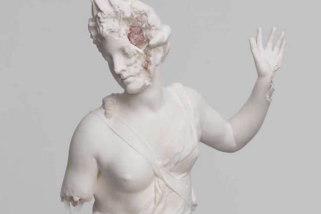 Rose quartz eroded Hamadryade, Daniel Arsham, 2019