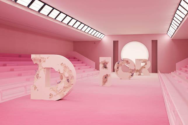 Défilé Dior, Collaboration avec Daniel Arsham 2019