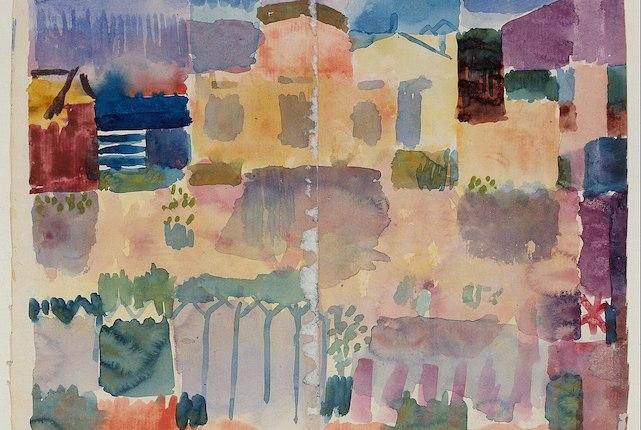 Paul Klee, Marché de St Germain, quartier européen de Tunis, 1914