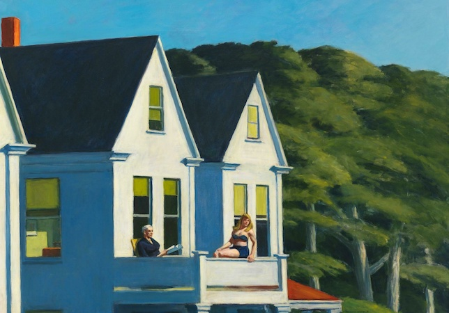 The four seasons in art summer in art Edward Hopper second story sunlight summer painting