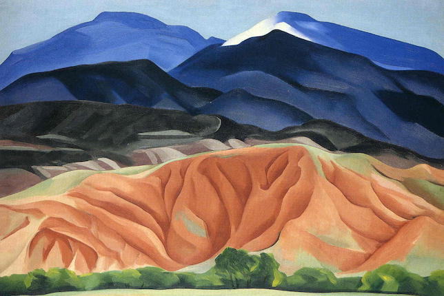Art et nature, Georgia O'Keeffe, Black Mesa Landscape, 1930