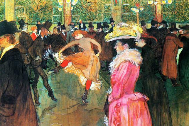 Henri de Toulouse Lautrec, Danse au Moulin Rouge, 1890