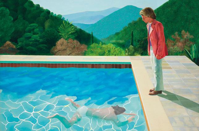 summer painting david hockney pool with two figures portrait of an artist david hockney christies record