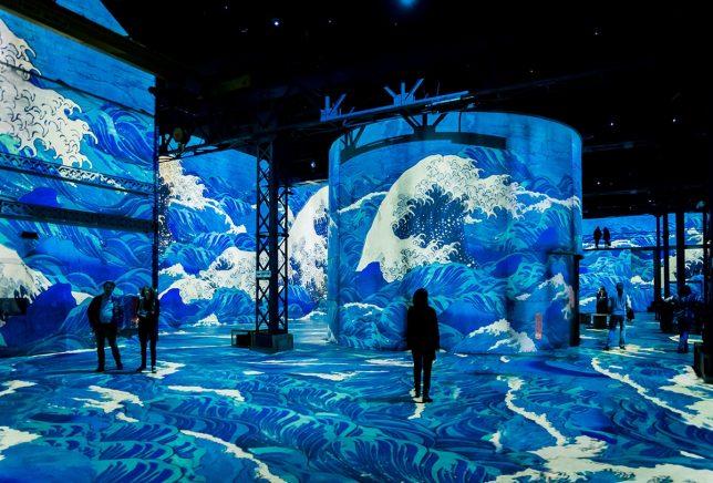 Exposition sur le Japon à l'atelier des lumières de paris