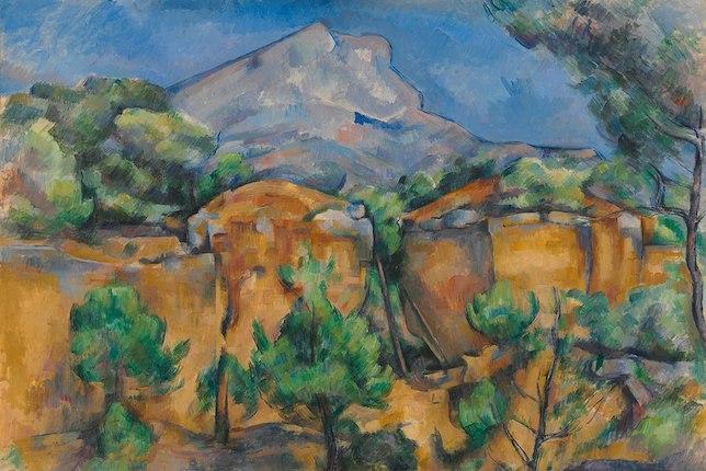 Peinture de paysage célèbre - Paul Cézanne, La Montagne Sainte-Victoire vue de la carrière Bibémus (1897)