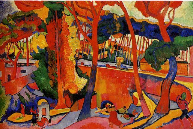 Peinture de paysage célèbre - André Derain, L'Estaque, 1906
