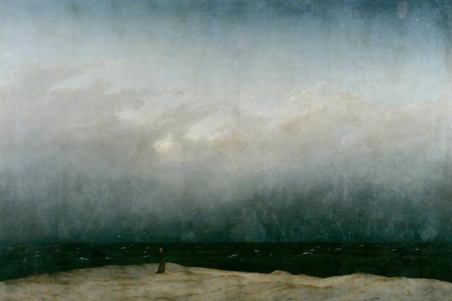 Peinture de paysage célèbre -  Caspar David Friedrich, Le moine au bord de la mer (1808-10)