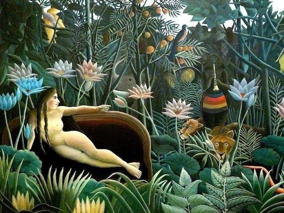 Peinture de paysage célèbre - Henri Rousseau, Le rêve (1910)