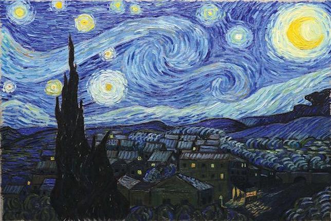 Peinture de paysage célèbre - Vincent van Gogh, La nuit étoilée (1889)