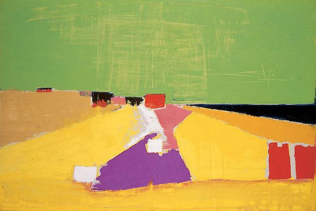 Peinture de paysage célèbre - Nicolas de Staël, Sicile (Vue d'Agrigente), 1954