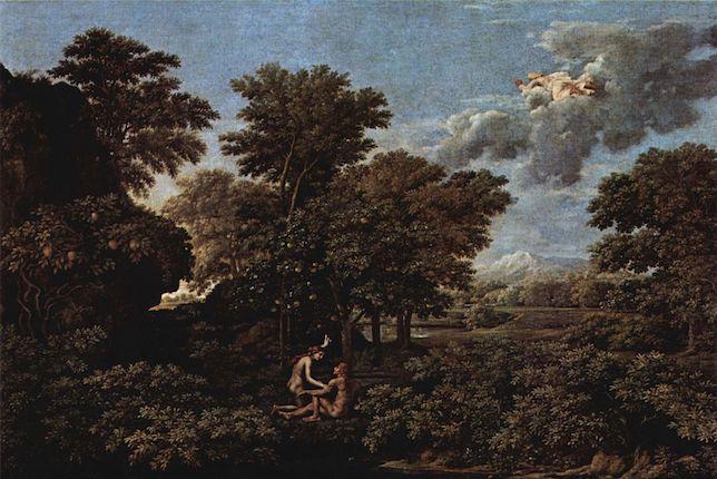 Peinture de paysage célèbre - Nicolas Poussin, Le Printemps ou Le Paradis terrestre (1660-64)