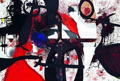 Joan Miró, Toile brûlée, 1973