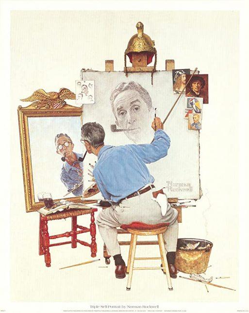 Norman Rockwell, Triple Autoportrait, 1960