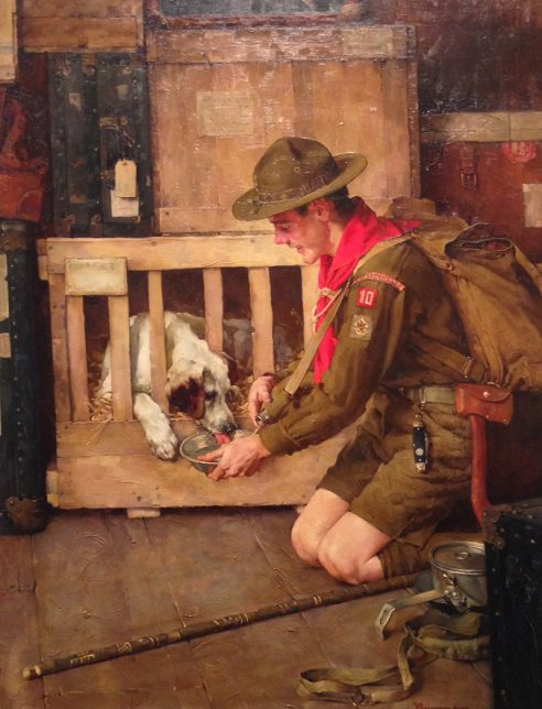 Norman Rockwell, A Good Scout, 1935