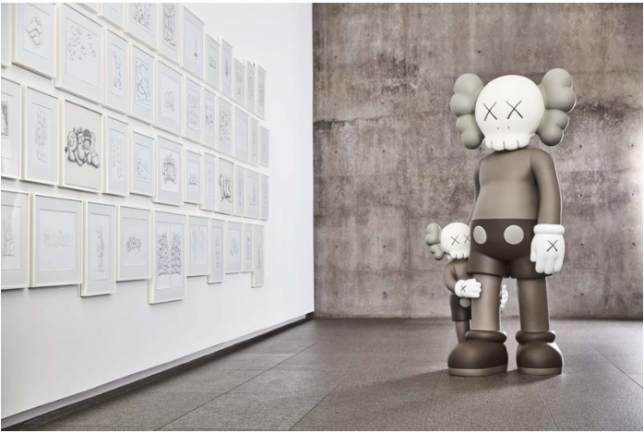 Kaws, Companion, Where the end starts,2016, Galerie Perrotin