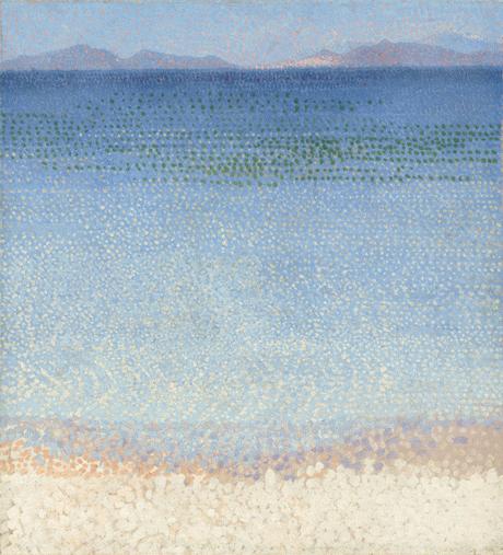 Peinture de plage - Henri-Edmond Cross, Les Îles  d'Or, 1891-1892