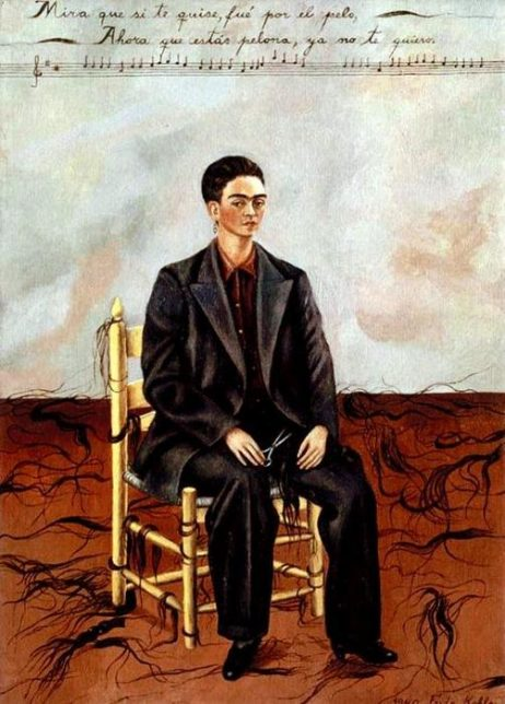 Frida Kahlo, Self-Portrait with Cropped Hair, 1940