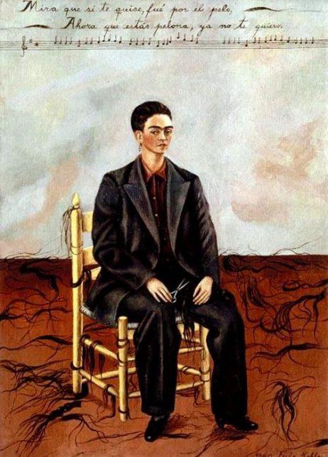 Frida Kahlo, Autoportrait aux cheveux rasés, 1940