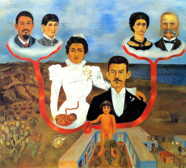 Frida Kahlo, My Grandparents, My Parents, and I (Family Tree), 1936