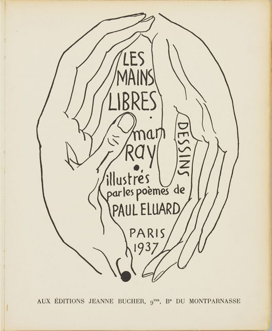 Paul Eluard, Man Ray, Les mains libres, 1937