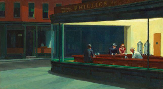 Tableau Nighthawks par Edward Hopper de 1942