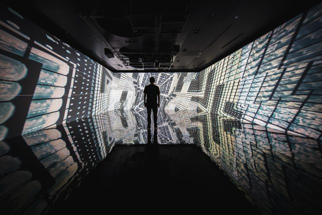 Installation Infinite Space de Refik Anadol à l'Artechouse en 2020