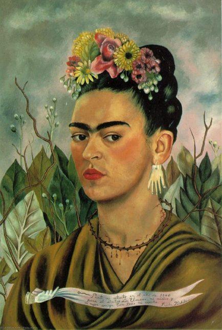 Frida Kahlo, Autoportrait dédicacé au Docteur Eloesser, 1940