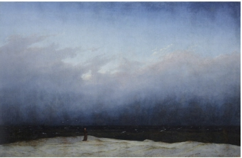 Peinture de paysage de bord de mer - Caspar David Friedrich, Le moine au bord de la mer, 1808-1810