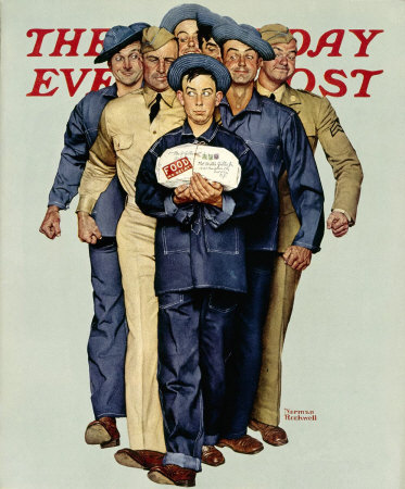 Norman Rockwell, Willie Gillis Food Package, 1941