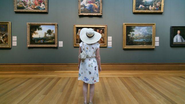 Musée d'art américain, Intérieur Getty Center museum, Los Angeles, Etats-Unis