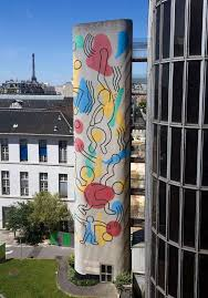 Keith Haring, Tour-escalier de l'hôpital Necker, 1987