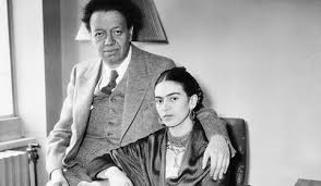Photograph of  Frida Kahlo and Diego Rivera