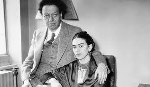 Photographie du couple Frida Kahlo et Diego Rivera