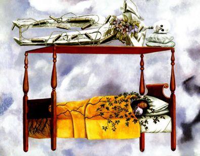 Frida Kahlo, Le rêve (le lit), 1940
