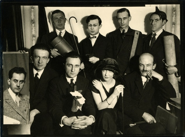 Man Ray, photography of a group of Parisian artists (Man Ray, Paul Eluard, André Breton,Tristan Tzara, George Ribemont-Dessaignes, Max Jacob...)