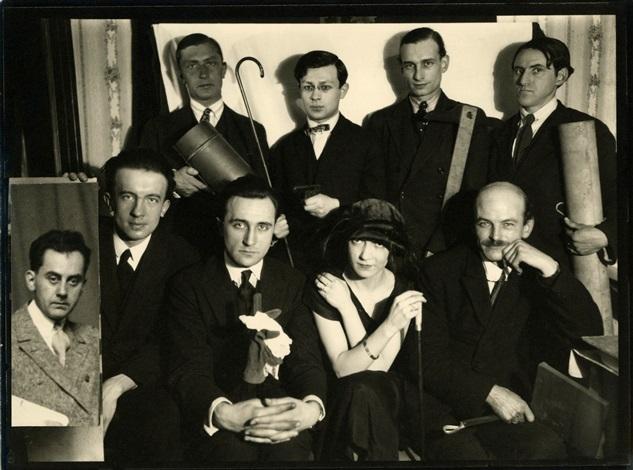 Man Ray, photographie groupe d'artistes parisien (Man Ray, Paul Eluard, André Breton,Tristan Tzara, George Ribemont-Dessaignes, Max Jacob…)