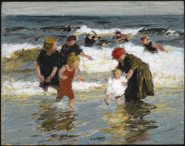 Peinture de bord de mer - Edward Henry Potthast, Bathers, 1913