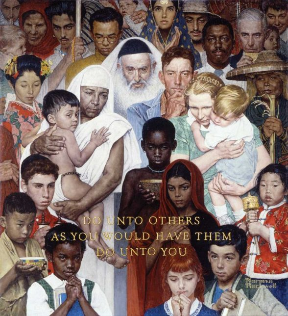 Norman Rockwell, Golden Rule, 1961