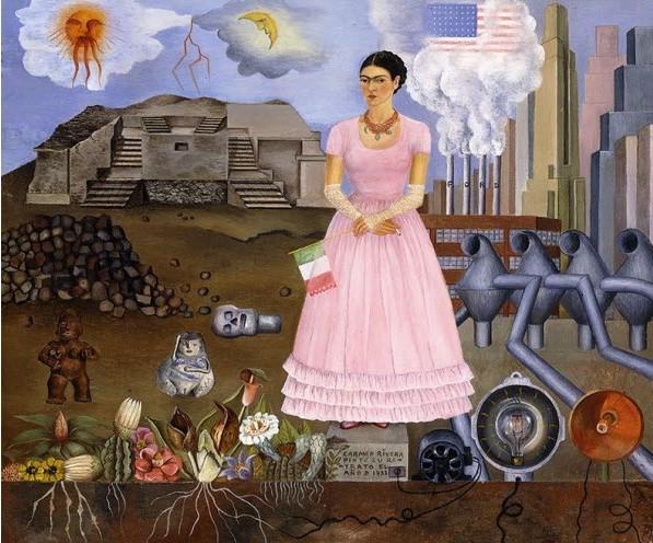 Frida Kahlo, Autoportrait à la frontière du Mexique et des États-Unis, 1932