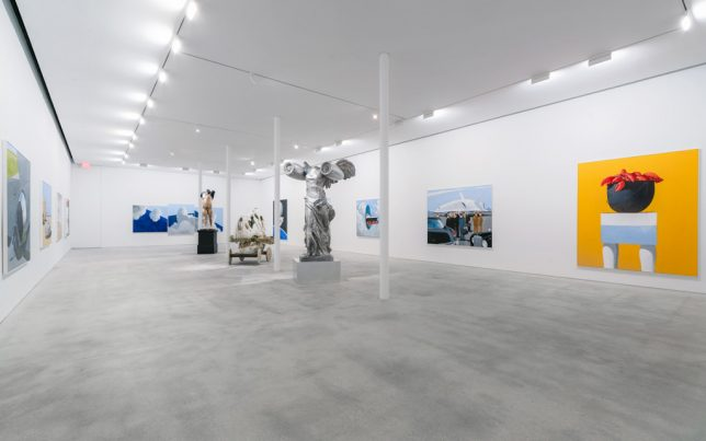 The exhibition 'Behind The Curtain of Dreams' by Julio Larraz at the Ascaso Gallery in Miami, 2019