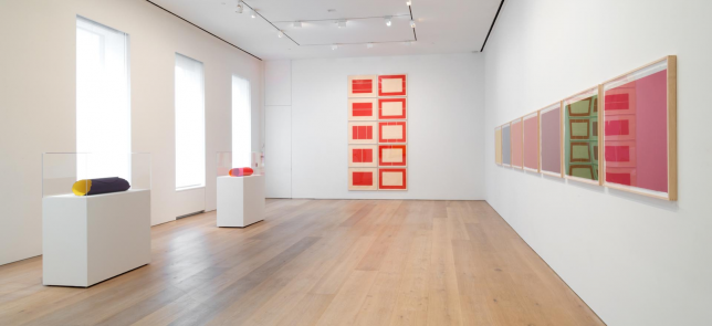 Prints from Flavin, Judd, Sandback at the David Zwirner Gallery