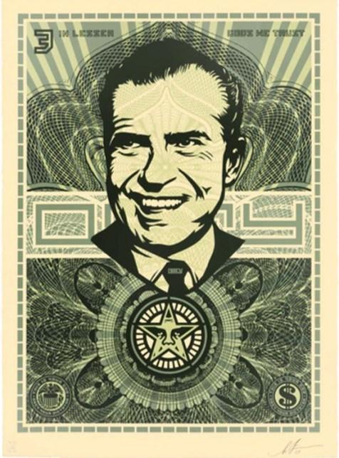 Shepard Fairey (Obey) - Lesser Gods Nixon