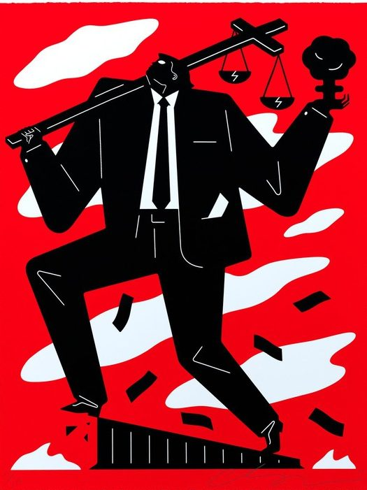 Cleon Peterson, Useless Idiot Red, 2019