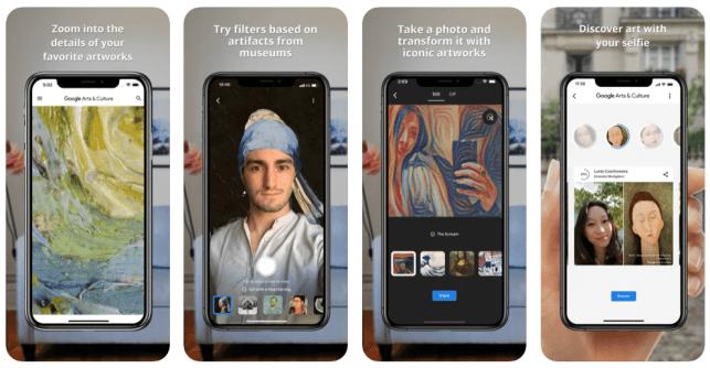 applications mobiles Google Arts et culture