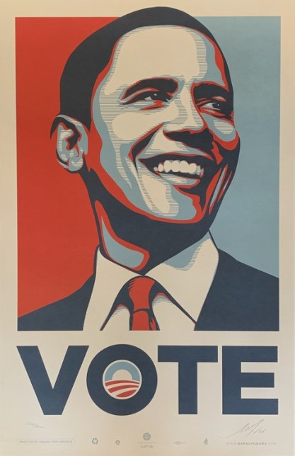 Shepard Fairey (Obey), Obama Vote signed, 2008