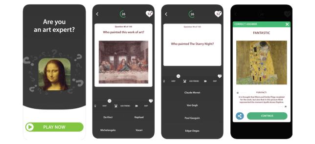 Art Quiz Game app mobile