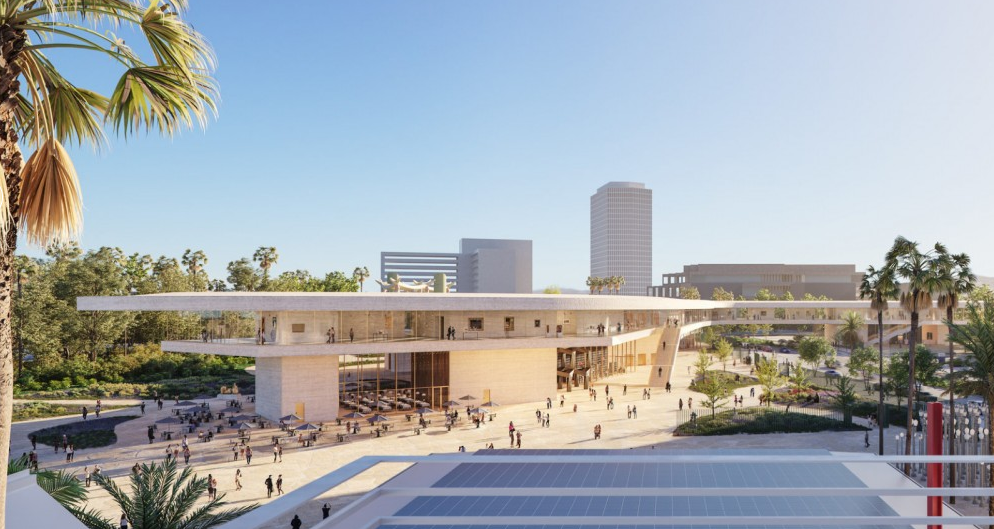 Musée d'art américain vue sur le centre LACMA, Los Angeles, Etats-Unis